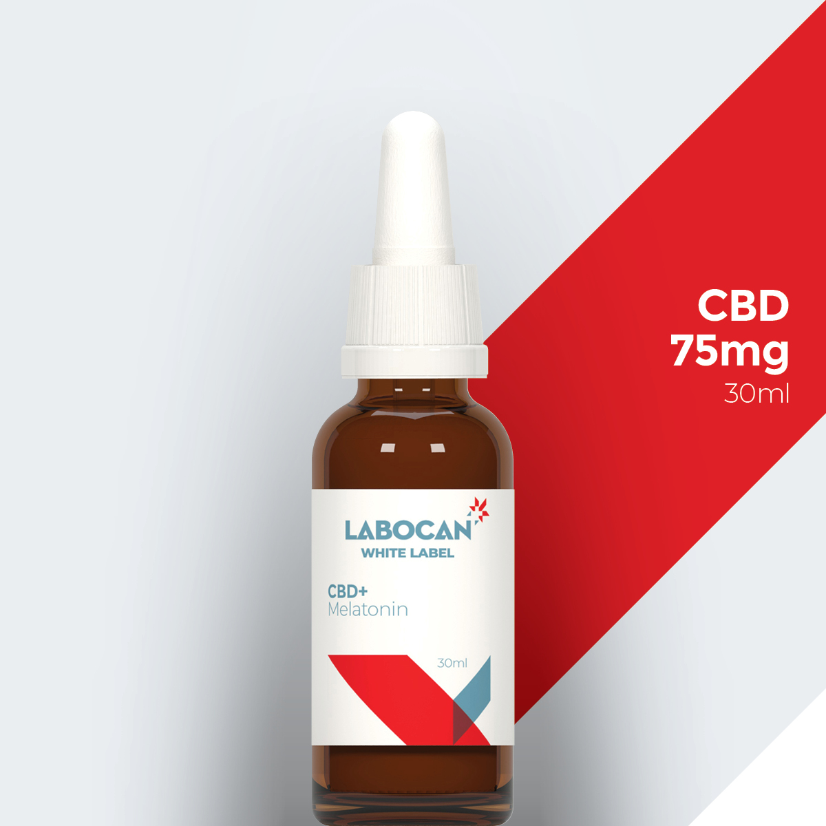 Labocan CBD etichetta bianca con melatonina