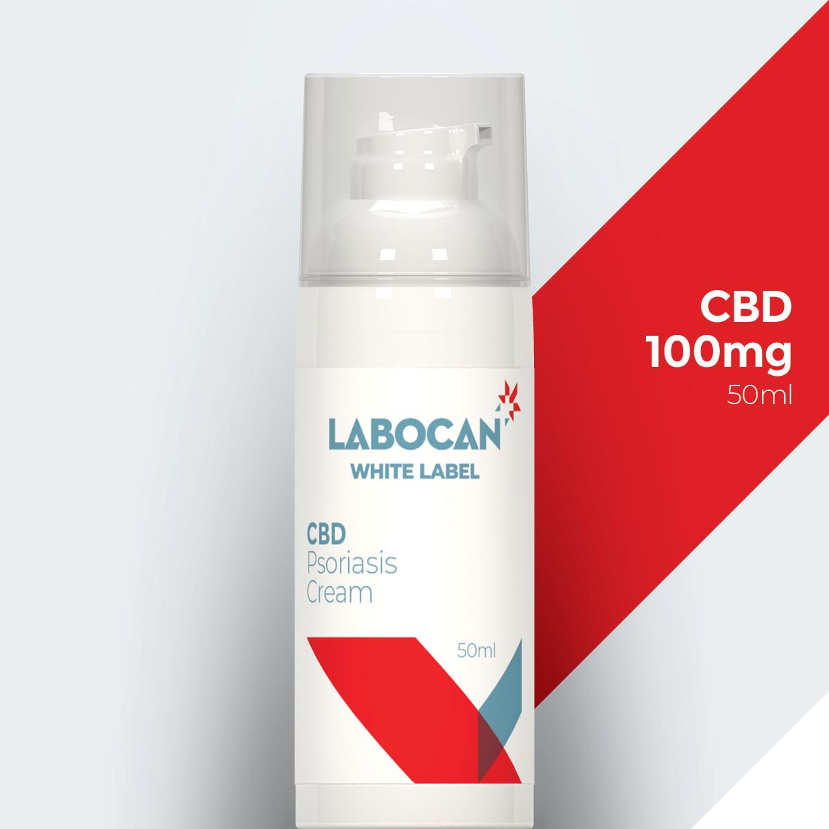 Labocan Psoriasi in crema al CBD etichetta bianca
