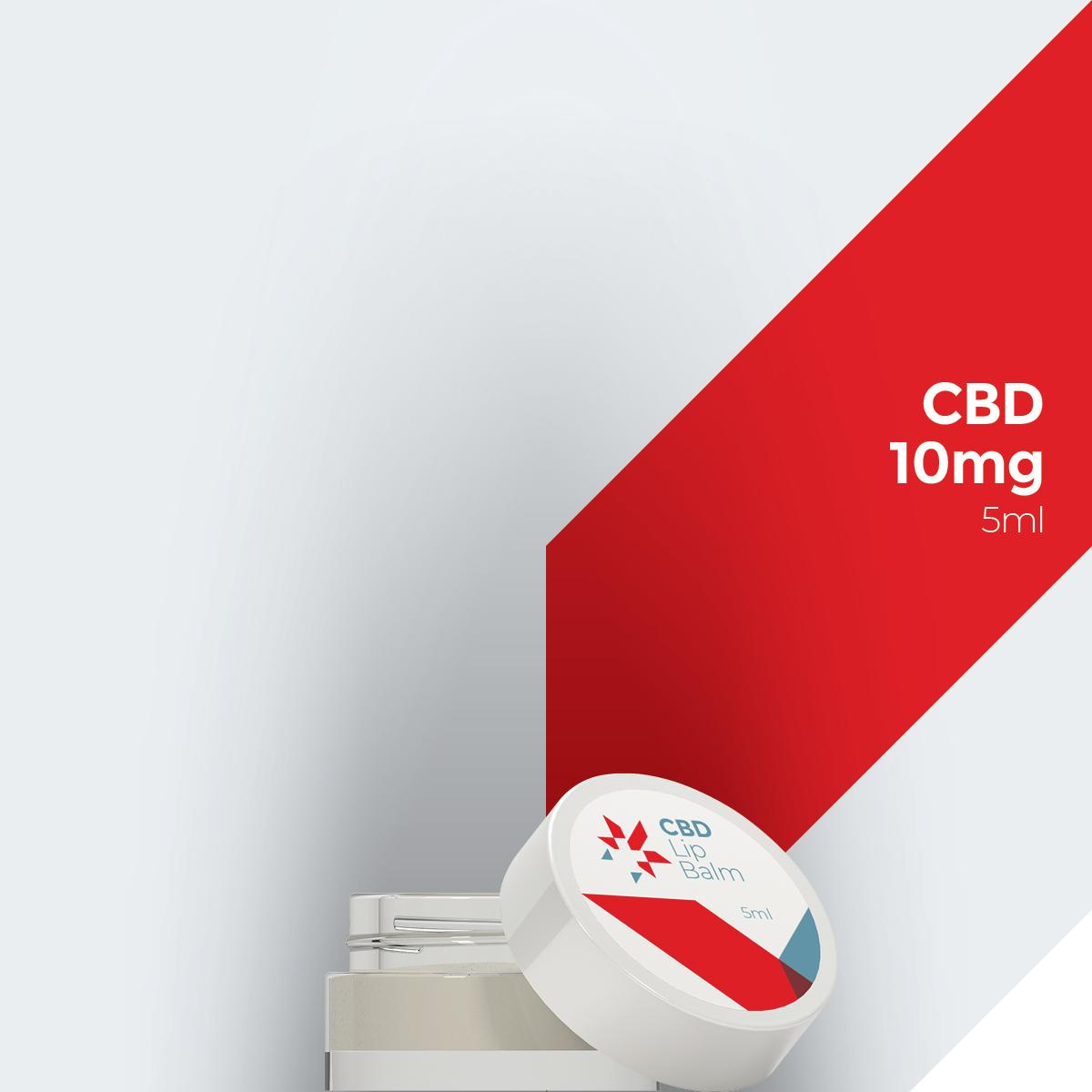 Balsamo per le labbra al CBD etichetta bianca